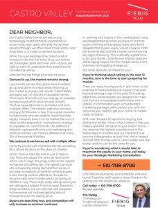 Real Estate Market Report August/September 2021